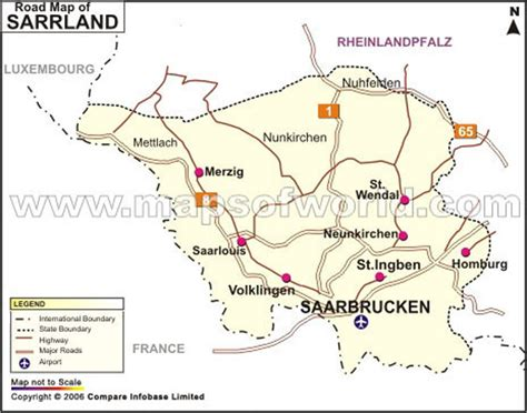 map of saarbrucken germany saarland road map road map of saarland germany