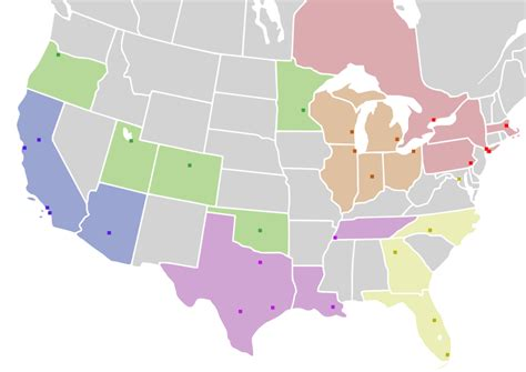 nba usa map are in the northeast midwest and south more