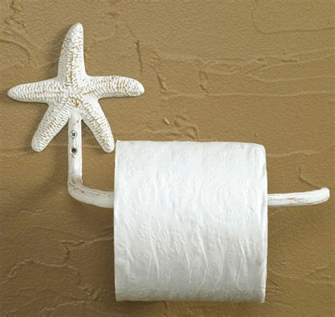 bathroom tissue holders starfish toilet paper holder white nautical beach house bathroom decor ebay