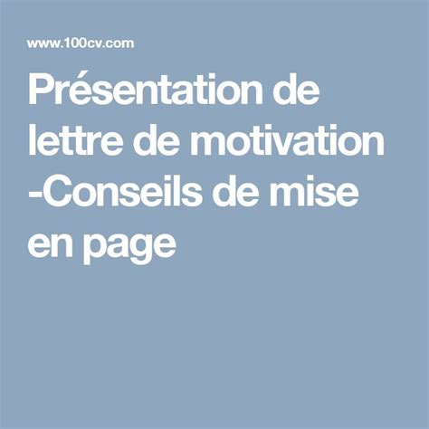 best 10 lettre pr 233 sentation ideas on
