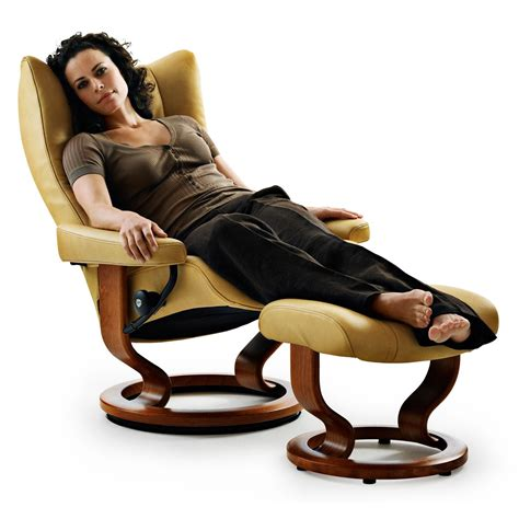 stressless wing recliner stressless wing medium recliner ottoman from 2 395 00