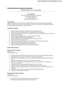 resume template for dental assistant writing dental assistant resume effectively