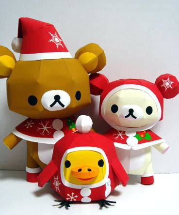 Rilakkuma Papercraft - suit rilakkuma relax and his friends free