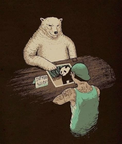 panda funny tattoo polar bears are getting panda tattoos everywhere