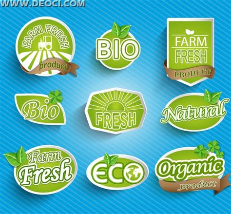 design label food organic food label design vector material download ai