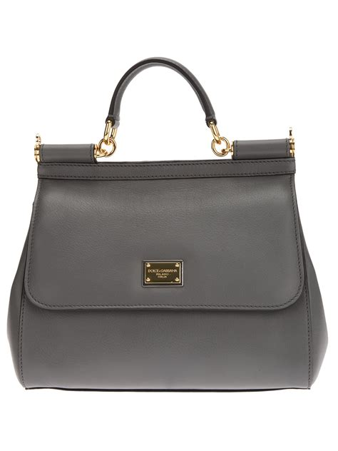 Dolce And Gabbana Miss Pocket Tote by Dolce Gabbana Miss Sicily Tote In Gray Lyst