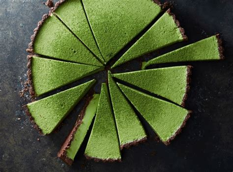 Choco Crust Matcha matcha coconut custard tart with chocolate crust chaplin