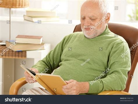 on the book stock photos sitting at home reading book in armchair stock photo 67481533