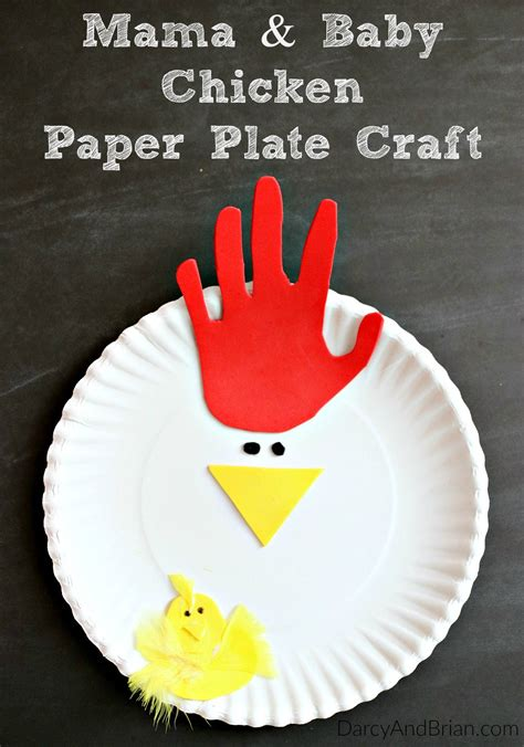 Easy Paper Plate Crafts For - tracing chicken paper plate craft