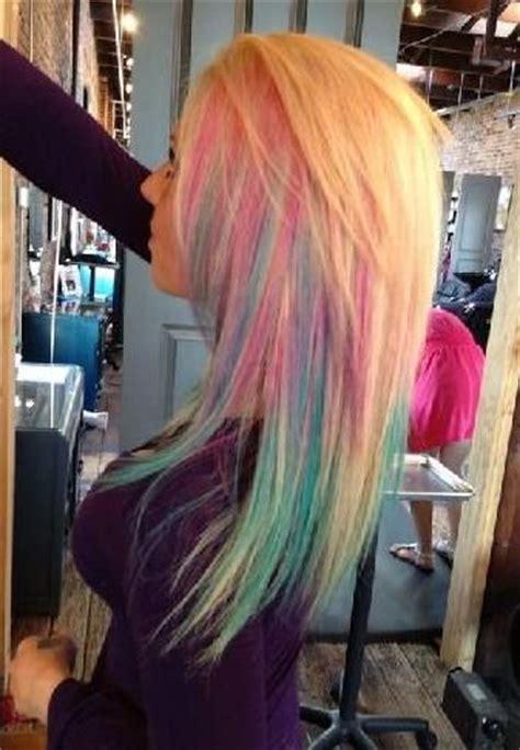daily hair spotting fun multi color blonde hair strayhair