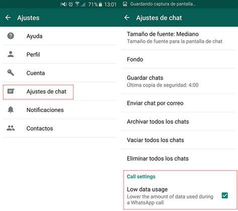 tutorial llamada whatsapp c 243 mo reducir el consumo de megas en llamadas de whatsapp