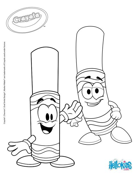 crayola 7 coloring pages hellokids com