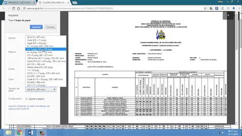 cuadro de merito piura 2016 sace como imprimir cuadros finales y certificados youtube