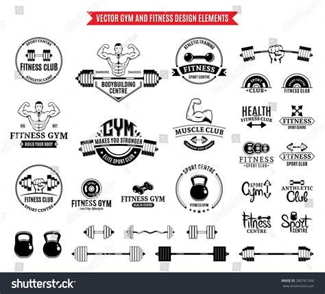Sport Fitness Logo Templates Gym Logotypes Stock Vector 280781396 Shutterstock Fitness Logo Design Templates