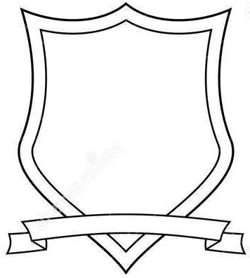 School Shield Template by Mr Mintart Personal Coat Of Arms Project
