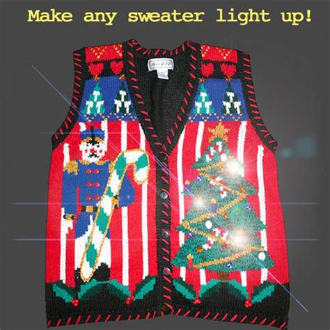 tacky light up sweaters light up your sweater with battery operated