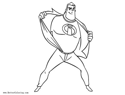 incredibles coloring pages incredibles 2 coloring pages lineart free printable