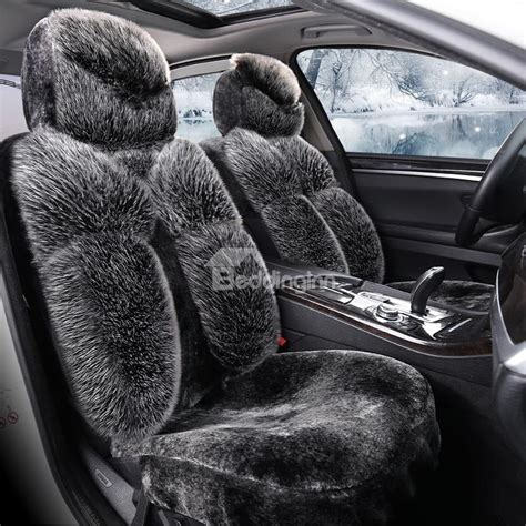 plush seat covers luxury high grade plush warm universal car seat covers