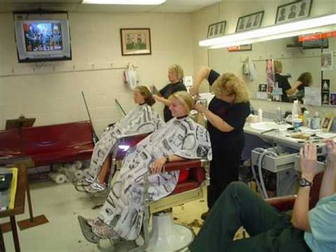 manual clipper haircut in progress womens barbershop clipper cut hairstyle 2013