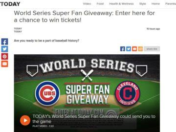 World Series Sweepstakes - the today world series super fan giveaway sweepstakes
