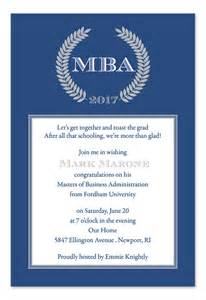 mba graduation announcement sles invitations ideas