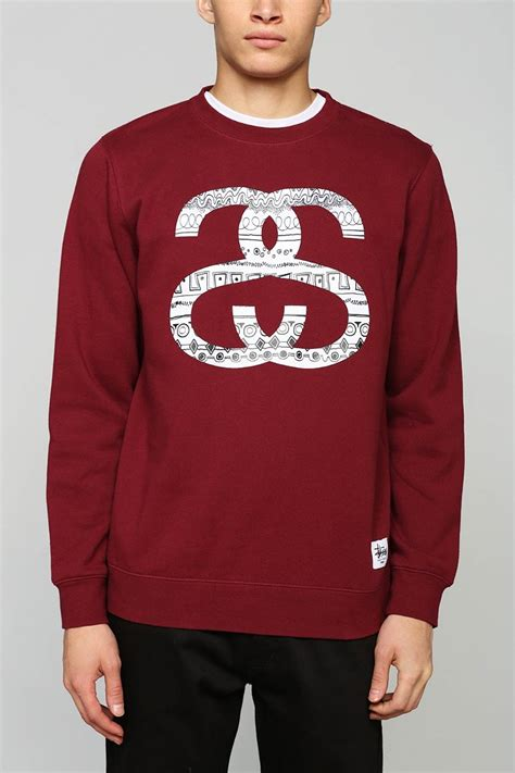 Pullover Hoodie Stussy Harmony Merch lyst stussy ss link tomtom pullover sweatshirt in for