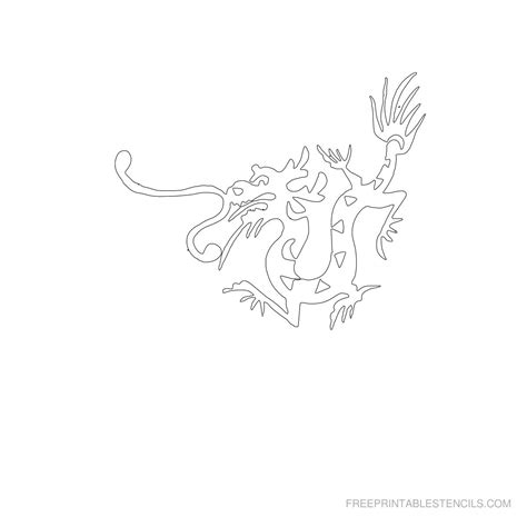 printable dragon templates dragon stencils printable pictures free printable stencils