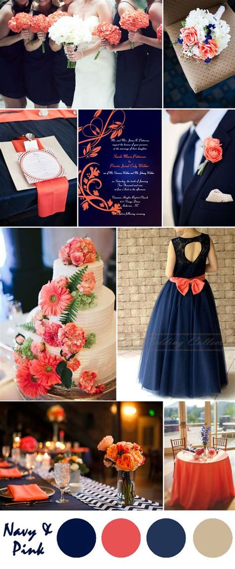 coral and blue wedding theme ten most gorgeous navy blue wedding color palette ideas