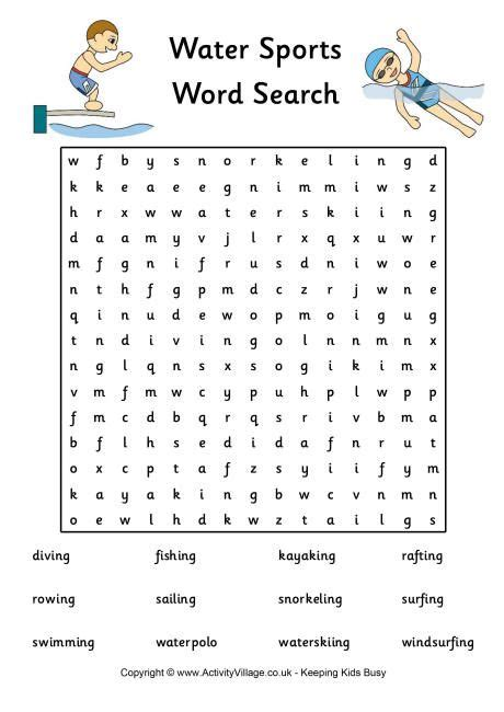 printable word search 5 year old 7 best images about sports unit on pinterest ancient