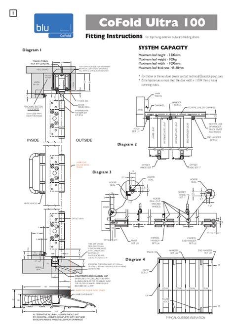 cofold ultra sliding folding door gear installation