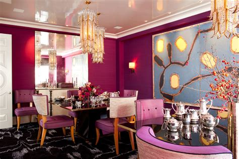 glam elements  pink interiors  color