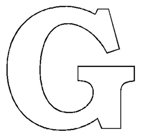 letter g template alphabet numbers block patterns