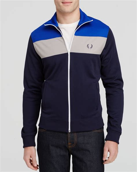 color block jacket lyst fred perry color block track jacket in black for