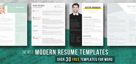 Modern Resume Templates 35 Free Exles Freesumes Free Modern Resume Templates