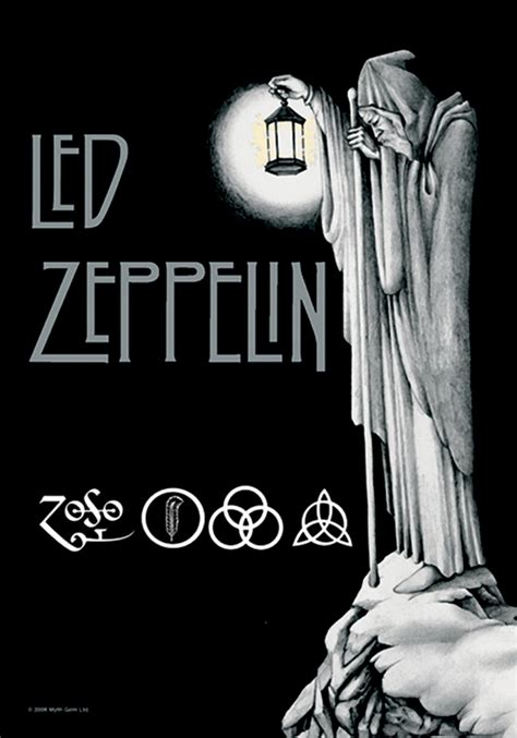 Staircase Design by Led Zeppelin Stairway To Heaven Fabric Poster