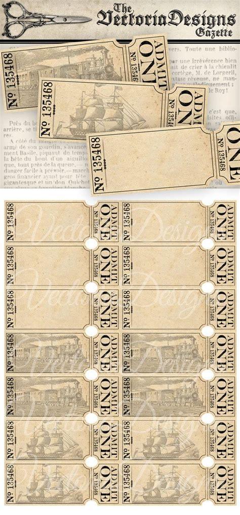 printable paper tickets 414 best diy paper printables images on pinterest board