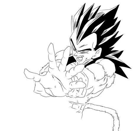 Vegeta Ssj4 Coloring Pages   Coloring Home