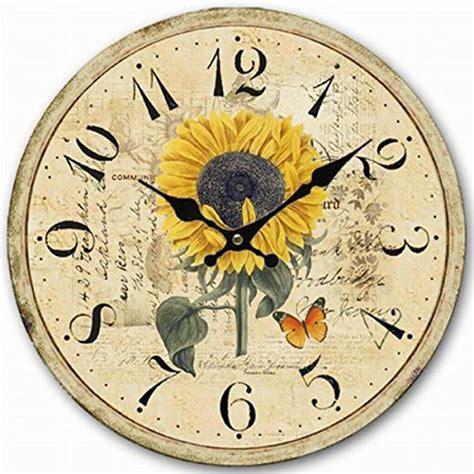 14 quot decorative clock eruner wooden sunflower cafe bar