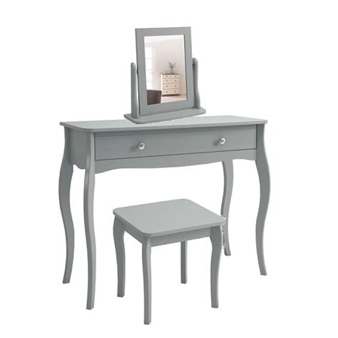 Wooden Dressing Tables With Mirror And Stool by Wooden Dressing Table With Mirror And Stool In Grey