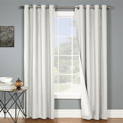 insulated draperies thermal grommet top curtains grommet top insulated panels
