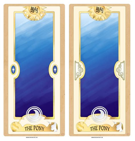 clow card template pony clow card concept by nimaru on deviantart