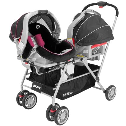 strollers with two car seats side by side joovy s twinroo infant stroller frame