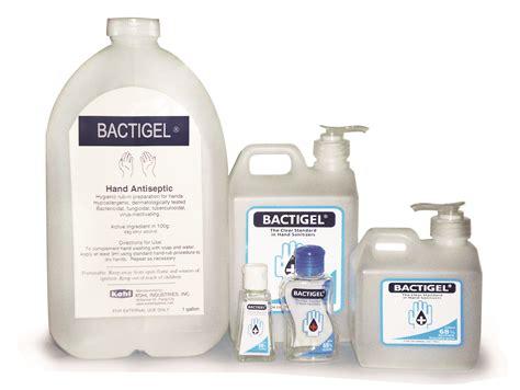 bactigel hand sanitizer kohl industries corporation