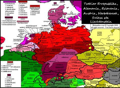 linguistic map of belgium germany netherlands belgium luxembourg austria