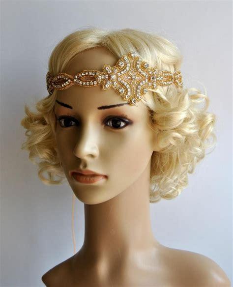 gatsby headpieces gold gatsby headband 1920s flapper headpiece rhinestone
