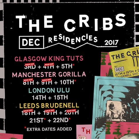 The Cribs Tickets by The Cribs Sold Out December Residency Gig At Leeds