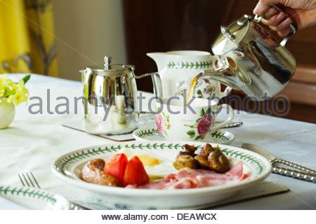 how to set up a bed and breakfast a table of food set up at a cornish bed and breakfast