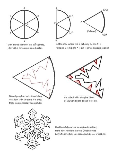 How To Make A Snowflakes Out Of Paper - snowflake design for snowflake cutouts holy crafts