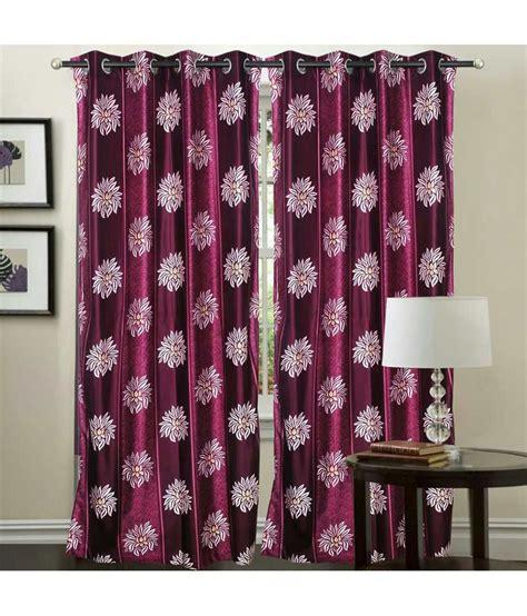 wine coloured eyelet curtains decor vatika set of 2 door eyelet curtains solid multi