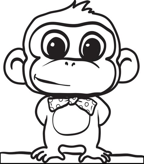coloring pages of baby monkeys cute baby monkey drawings cliparts co
